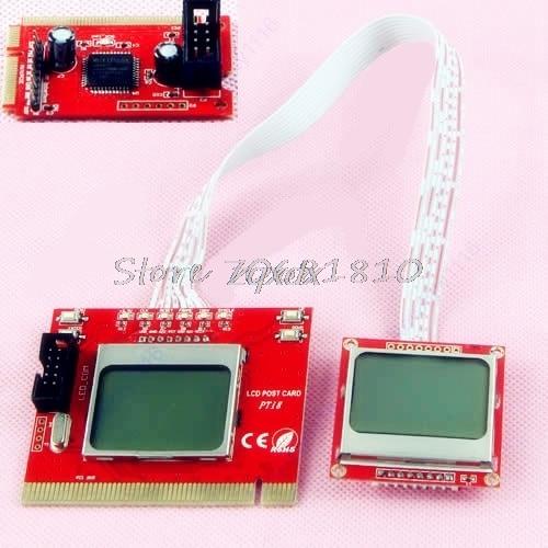 Mini PC Dual LCD PCI-E PCI LPC Diagnostic Analyzer Post Test Debug Cards Drop Ship