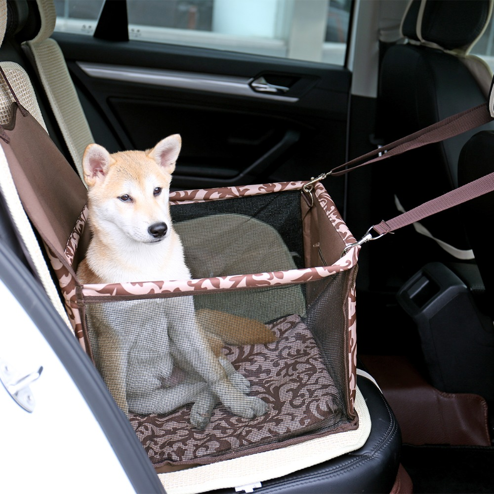 Pets Carrie Bag For Travel Cooling Foldable Car Seat Safety Carrier Suitable Small Middle Dog