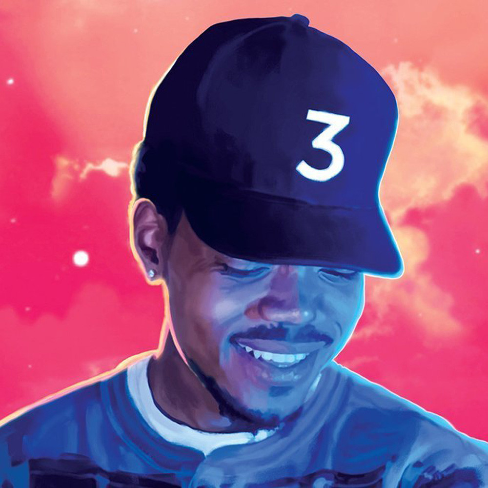 Poster Canvas Painting Chance The Rapper 24in x 36in Coloring Book Rapper Singer Home Decoration Aug30