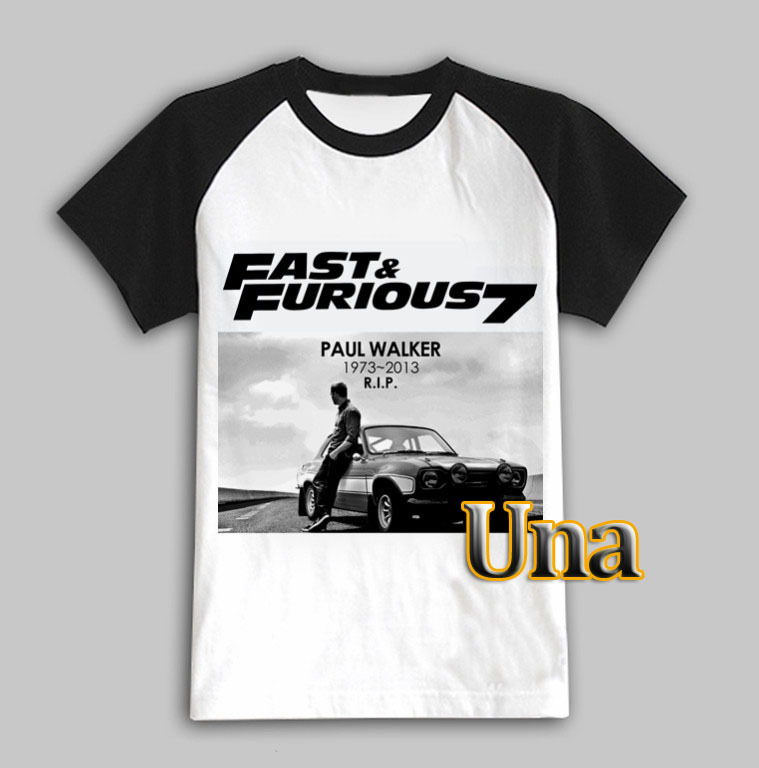 Paul Walker Memori Shirt 2017 Fast And Furious 7 Movie T Man Fashion Design Men Breathable Mens Collection In Shirts From S