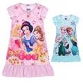 2-9 лет девочки пижамы девушки одеваются принцесса сна носить хлопчатобумажное платье для лета с коротким рукавом Одежда детская дети одежда