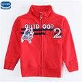 Novatx A5259 2016 rojo al por menor caliente nuevo Diseño de moda para niños ropa de bebé niños chaqueta de abrigo de invierno chaquetas de la capa para niños
