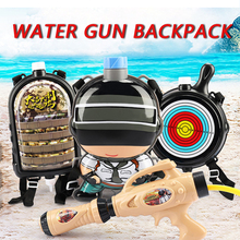 Summer Toy Water Gun Backpack PUBG for Children Kids Playing Water children Weapons Toy Gun Party Favors