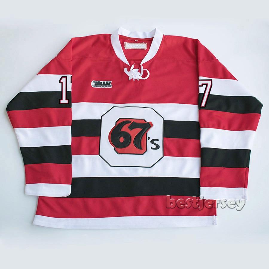 newest 61ca5 65731 Kowell ottawa 67s #17 travis konecny Stitched Hockey Jersey ...