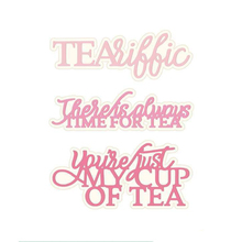 Time For Tea Youre Just My Cup Of Phrases Metal Cutting Dies DIY Scrapbooking Embossing Paper Cards Crafts New 2019 Die