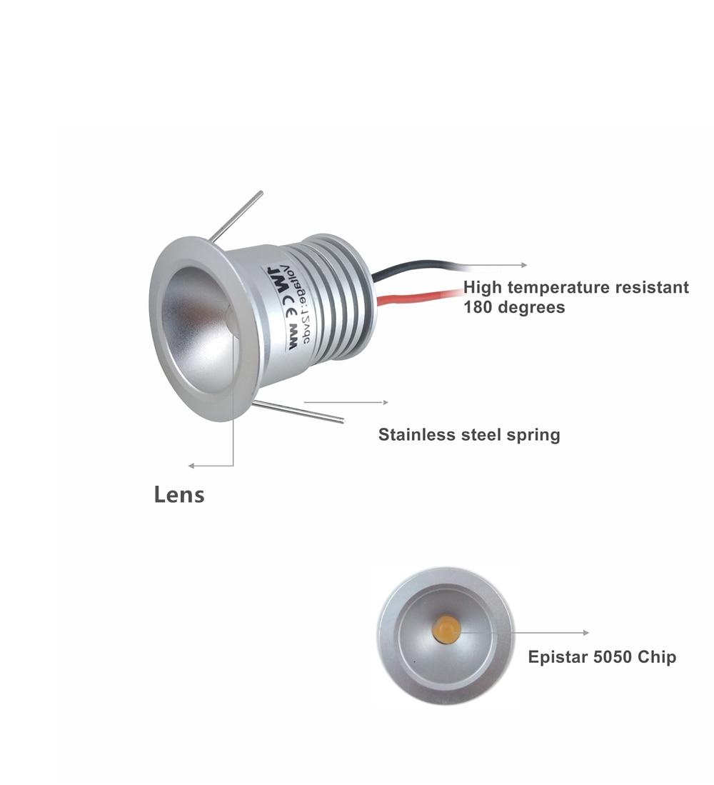 1W Mini Led Spot сәндік жарықтандыру, 25мм - LED Жарықтандыру - фото 3