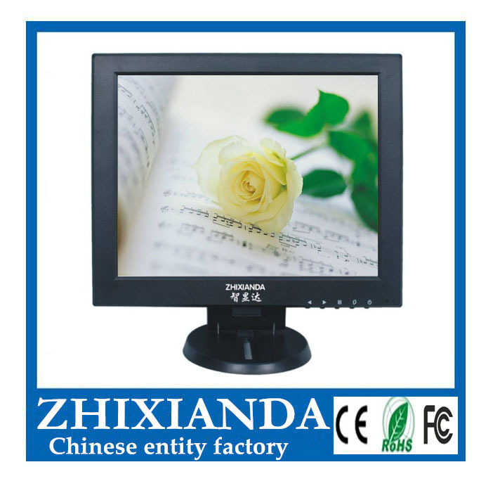 ФОТО Factory price ! 12 inch HDMI monitor with HDMI/BNC/AV/VGA/USB for HD camera 800*600 pixels(with  trumpet)