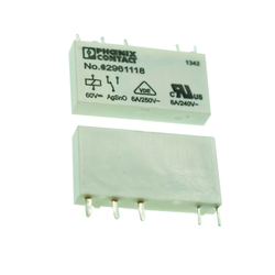New Orginal PHOENIX Single relay 2961118 Plug-in miniature power relay, with power contact, 1 PDT, input voltage 60 V DC