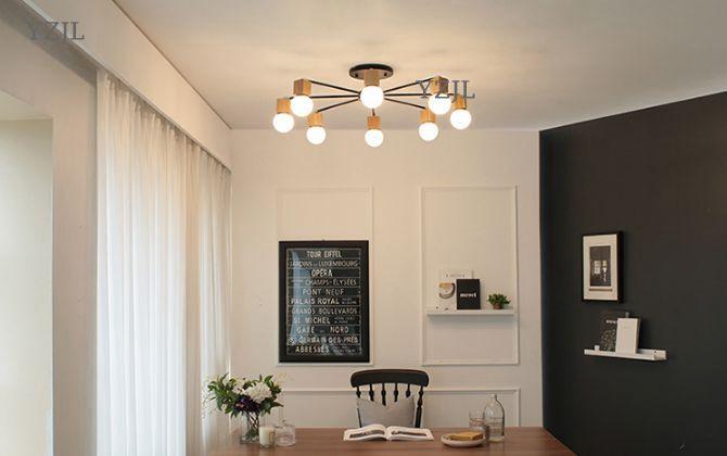 Japanese minimalist living room creative Chinese chandeliers lights simple korea bedroom ...