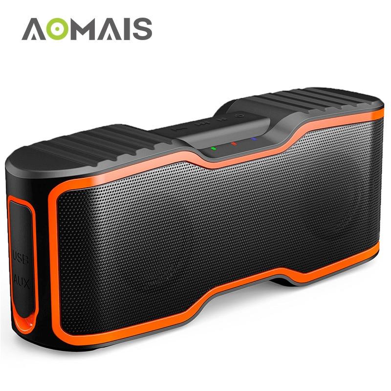 AOMAIS Sport II Tragbare Bluetooth Lautsprecher 20 watt Subwoofer Spalte Stereo Soundbar Drahtlose Lautsprecher Wasserdichte Outdoor Lautsprecher