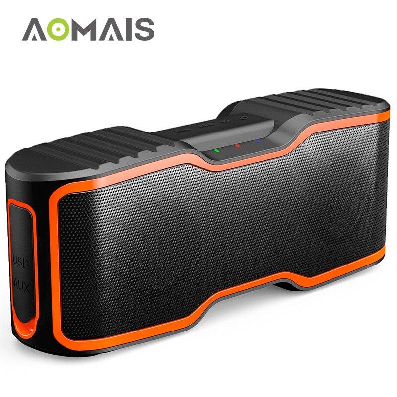 Altavoz Bluetooth portátil AOMAIS Sport II 20 W Subwoofer columna estéreo Soundbar altavoz inalámbrico impermeable al aire libre