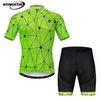 Weimostar 2020 Pro yaz bisiklet Jersey seti erkekler dağ bisikleti giyim MTB bisiklet giyim hızlı kuru bisiklet giyim Ropa Ciclismo