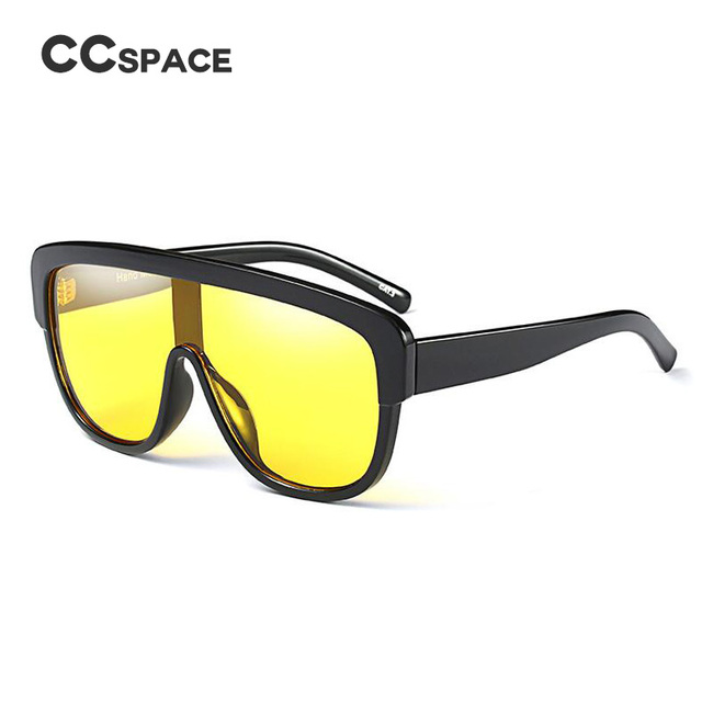 f5cb109e1d4 CCSPACE Yellow Gradient Lens Sunglasses Men Women Brand Designer Glasses  Large Frame Fashion Eyewear 100%