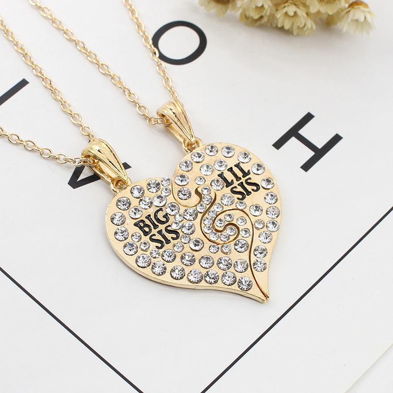 2 Pieces/set Of Simple Ladies Necklace Good Sisters Heart-shaped - Fashion Jewelry - Photo 5