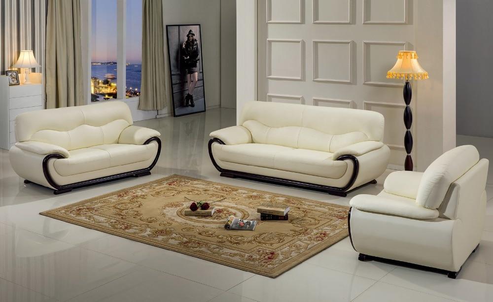 € 1176.2 |Chaise No 2019 Promotion Style européen ensemble canapés en cuir  véritable pour salon fauteuil pouf Design moderne canapé-in Canapés salle  ...