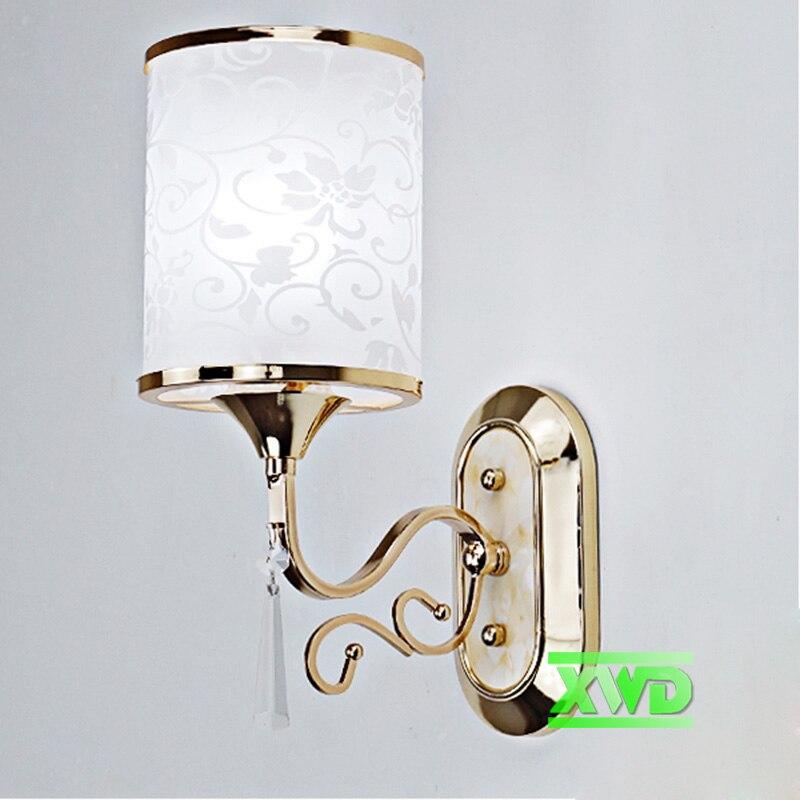 Modern Loft Industrial Wall Lamps Acryl Bedside Wall Light Glass Lampshade E27 Edison Bulbs 110V/220V lotus leaf Lamps