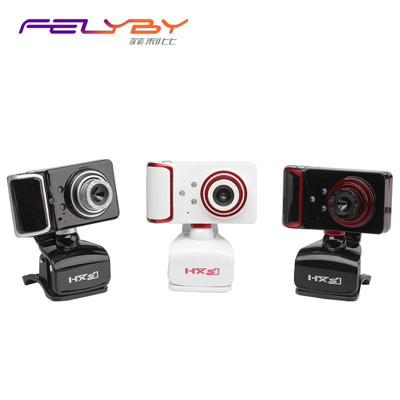 FELYBY S10 IP Camera with Built-in Microphone and 16M Pixels 640 * 480 Dynamic Resolution to Convert Video to 9 Color Webcams