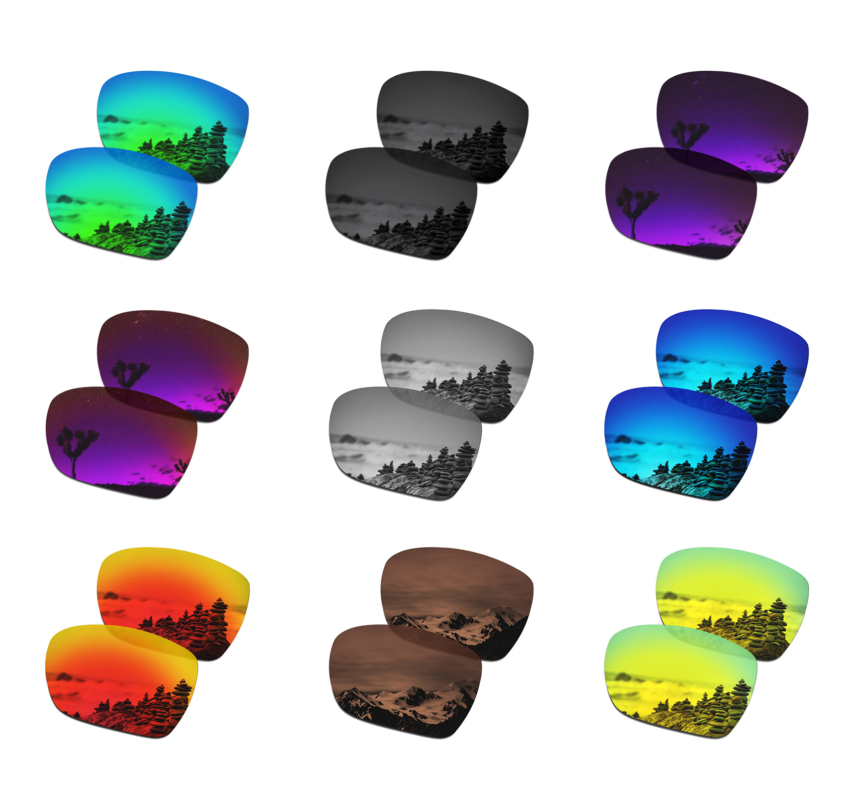 SmartVLT Polarized Replacement Lenses For Oakley Deviation Sunglasses - Multiple Options