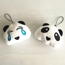 Leuke 3D Panda Pluche Pop Sleutelhanger Pluizige Pom Pom Beer Hanger Purse Bag Charms Cry Bearcat Speelgoed Sleutelhanger Houder party Geschenken(China)