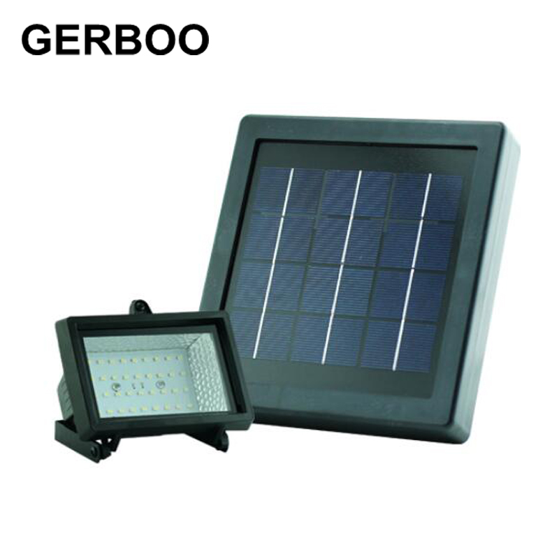 GERBOO Solar LED Light Outdoor Garden Wall Spotlights 36SMD Solar Street Lights White/Warm White ...