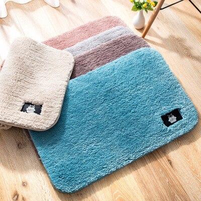 Hiver utiliser doux chaud maison paillasson tapis de sol anti-dérapant cuisine tapis porche porte tapis lit tapis toilette Tapete tapis porche paillasson