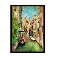1pcs Frameless Pictures Painting By Numbers Wall Art Of Landscape DIY Canvas Oil Painting Home Decor