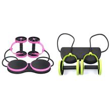 Gym Muscle Exercise Equipment Home Fitness Double Wheel Abdominal Power Ab Roller Trainer Training