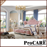 high quality wholesale dubai solidwood double box bed