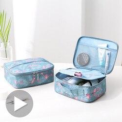 Viaje chica caja para maquillaje y cosméticos bolsas de viaje de las mujeres lavado de lápiz labial cepillo de pestañas bolsa estuche accesorios suministros producto