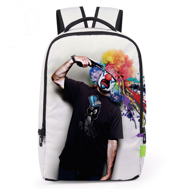 New Special Design Watercolor Clown 3d Printing Backpacks Student School Bags For Girls And Boys Travel Satchel Rucksack