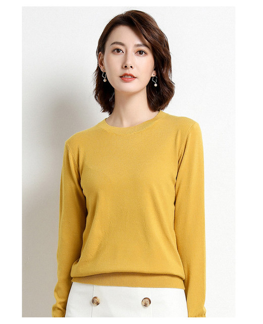Yellow Cashmere Sweater For Women Sweaters Female Pink Wool Winter Woman Sweater Knitting Pullovers Knitted Sweaters Jumper 2019 28