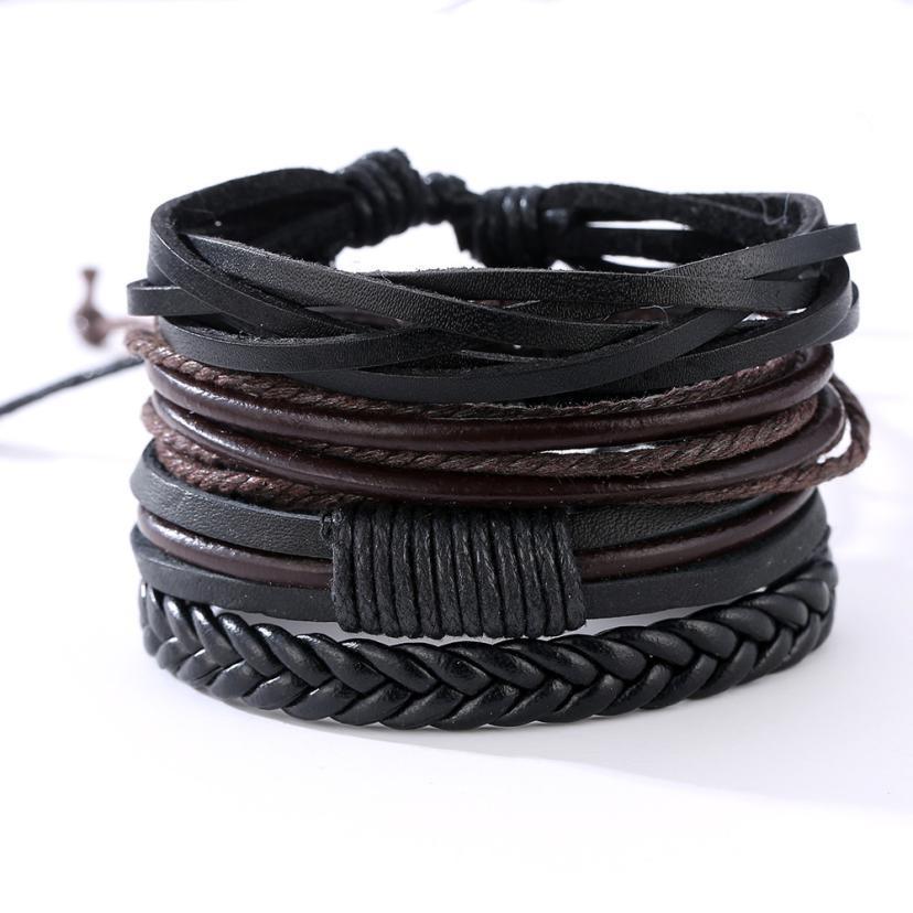OTOKY Bracelet Women Fashion Multilayer Handmade Bracelets Handmade Leather Bangle Cool  ...