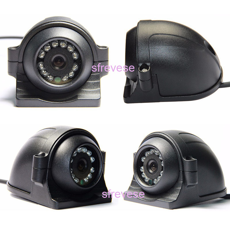 cheapest 4Pin 12 LED Side Rear View Parking Reversing Backup Camera For Truck Bus Vehicle Monitor 12V-24V