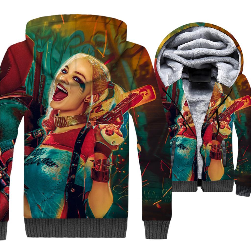 Hoodies & Sweatshirts Hot Sale 2018 Autumn 328 Skull Halloween Joker Dinosaur Prints Women Jacket Hooded Femme Sweatshirt Casual Loose Men Pocket Hoodies Coat