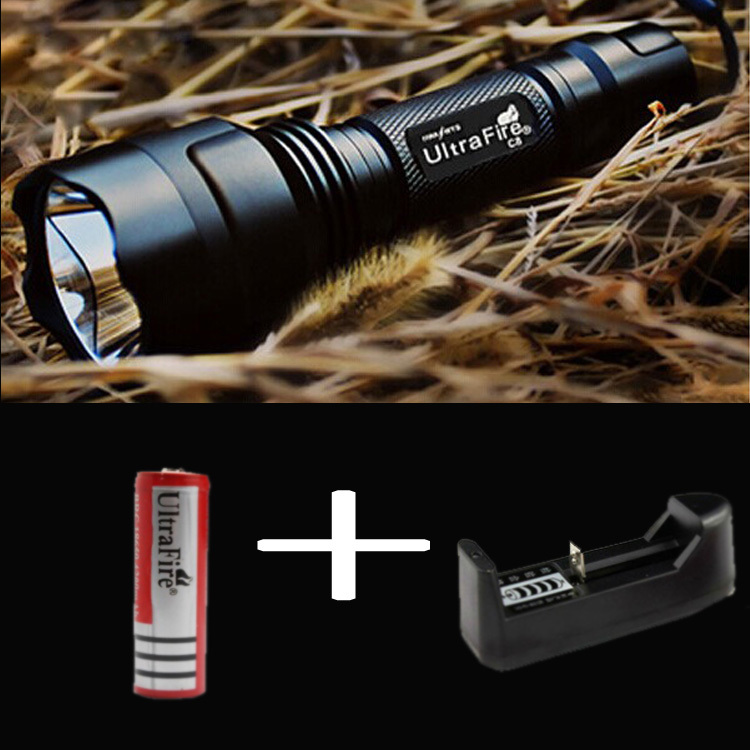 OEM LED Flashlight 2000 Lumens High Power CREE XM-L T6 C8 18650 Torch 5 Modes light lantern for Camping adventure+battery high power torch 2000 lumens li batteries led flashlight torch light outdoor lighting