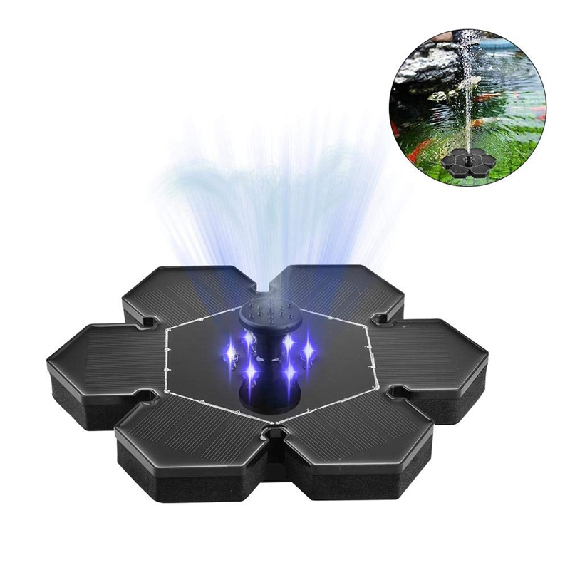 Led 2 4 Ground Solar Fountain Pump Waterproof Solar Panel With Submersible Pump For Bird Bath Garden Fountain plastic in Pumps from Home Improvement