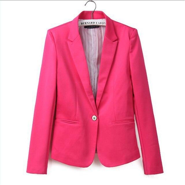 Глобальный взрыв модели один пряжки женский пиджак Европейский стиль конфеты цвета пиджак Тонкий Пиджак Женщин