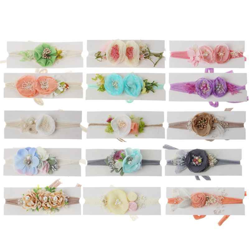 2019 Newborn Photography Props Baby Floral Hair Accessories Infant Shooting Headband Baby Boys Girls Photo Props
