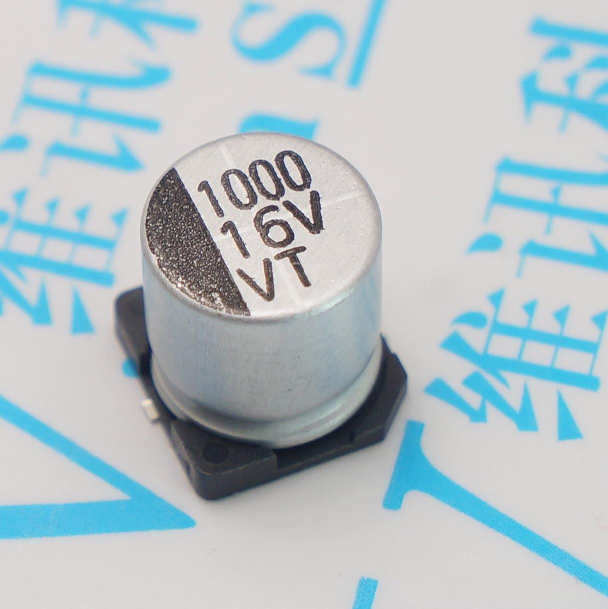 200 шт. 10 в 1000 мкФ 1000 мкФ 10 в SMD алюминиевый электролитический конденсатор 10 В/1000 мкФ Размер 8*10,5 мм электролитический конденсатор Бесплатная до...