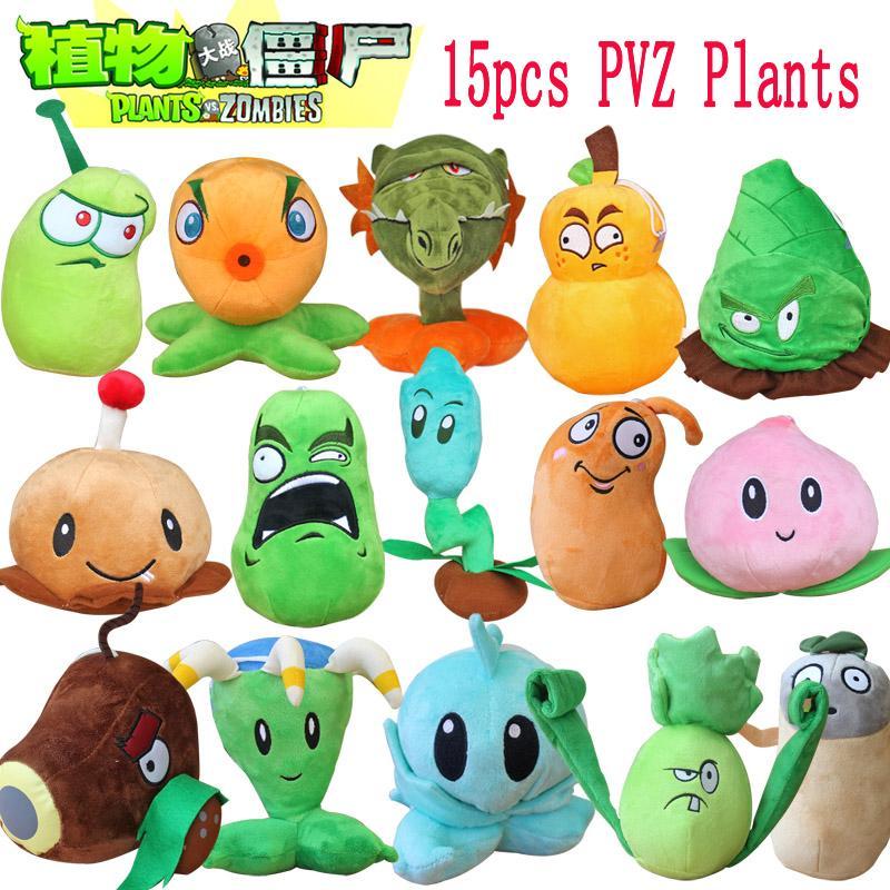 1 stücke Pflanzen Vs Zombies 2 Angefüllte PVZ 15-20 cm pflanzen Weichem Plüsch Spielzeug für Kinder Party Spielzeug 15 Styles Optional