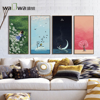 Remember the time axis west wall frog Li modern minimalist living room decorative painting paint the Bedroom Sofa backdrop mural