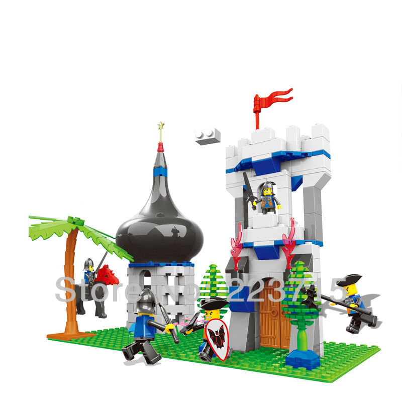 Free Shipping!*Attacking Castle Gate* DIY enlighten block bricks,Compatible With other Assembles Particles