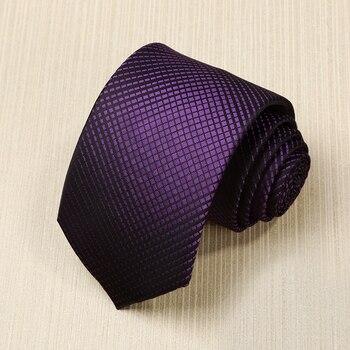 2019 Novo Design Laços para Homens 7 cm de Largura Laço do Negócio Gravata À Prova D' Água Moda Roxo Gradiente Quadrado para Terno Gravata caixa de presente
