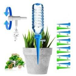 12 pçs/set útil auto rega ajustável estacas sistema de férias planta waterer ferramenta irrigação automática