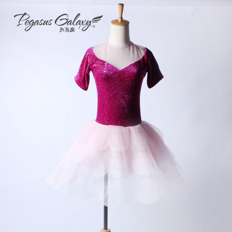 Sexy V Back Ballerina Dress Kids Women Gymnastics Leotard For Dance Professional Ballet Tutus Costume Girls Fancy Dance Dress