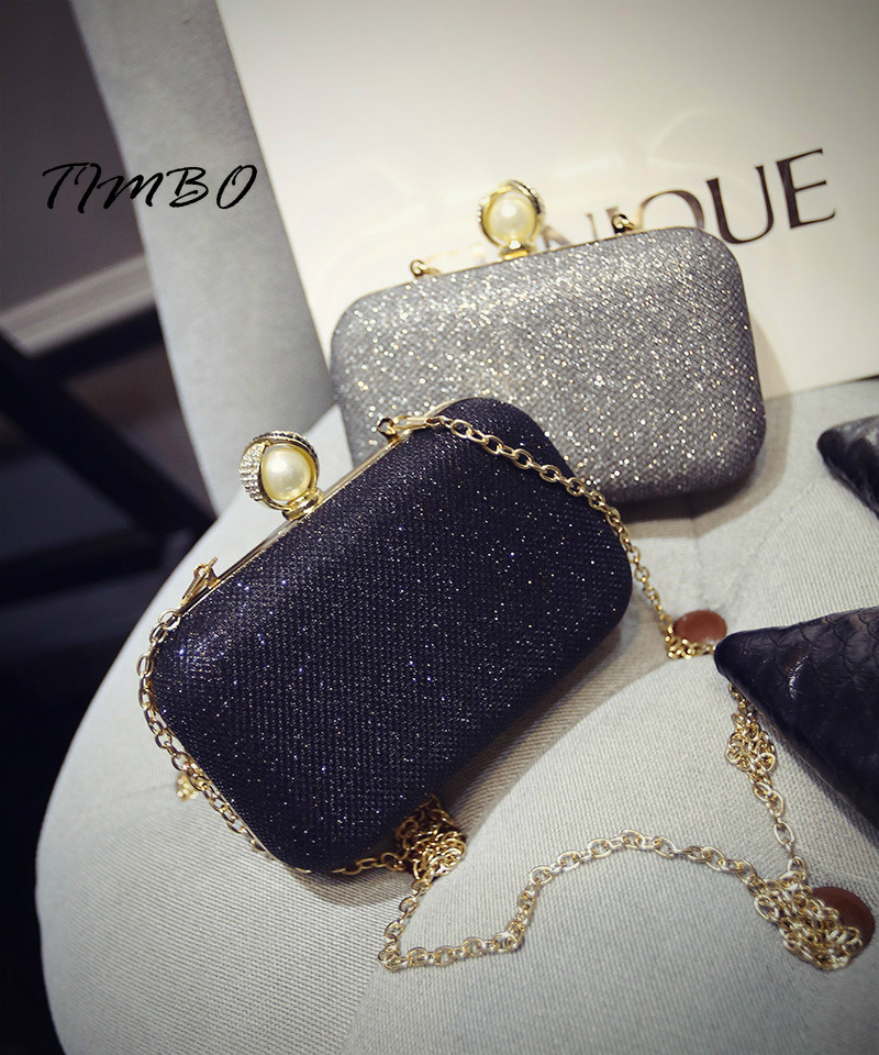 2017 New fashion Luxury Evening Bags Women Pearl Beaded Hand Bag Chain Lady mini Party Purse Bridal Wedding Diamond new women s retro hand beaded evening bag wedding bridal handbag chain shoulder bag stitching sequins diamond stone day clutches