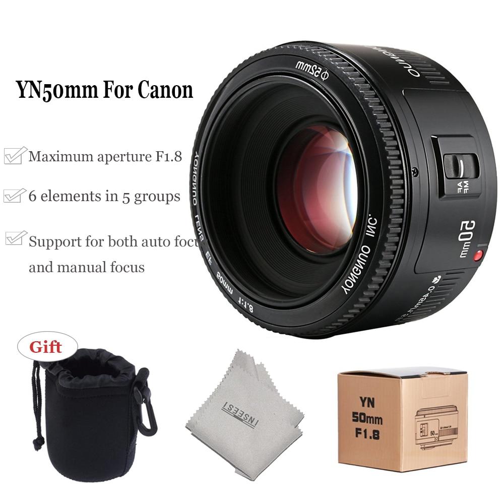 YONGNUO Large Aperture YN50mm F/1.8 Grote Diafragma Autofocus Lens for Canon 700D 750D 800D 5D Mark II IV 10D DSLR Camera Lens