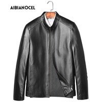 Sheep Leather Coat Men High Quality Winter Genuine Leather Jacket Thick Style Mens Real Leather Coat