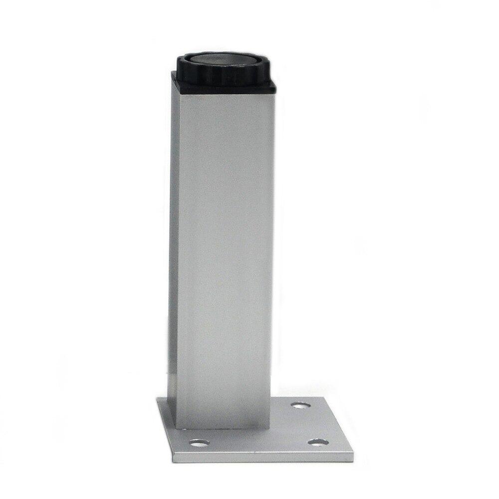 4pcs 15cm Furniture Legs Cabinet Feet Aluminum Metal Table Adjustable  Square Base with Screws(China