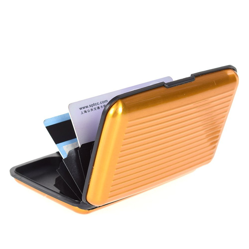 Aluminum Metal Wallet Business ID Credit Card Case Holder Anti RFID Scanning USA